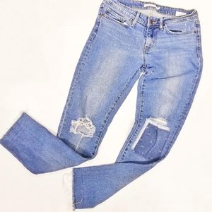 Levi's 711 Skinny Busted Patch Knees